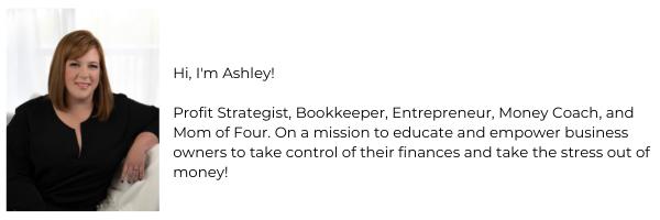 ashley schlaefli, inspired founder, financial coach, quickbooks bookkeeping help.